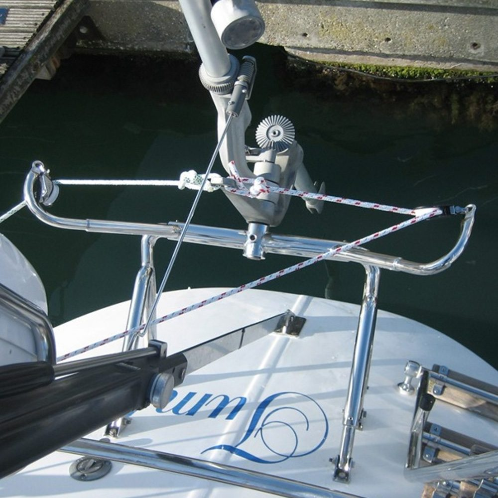 Mounting option 3 for the Neptune sailboat self steering windvane