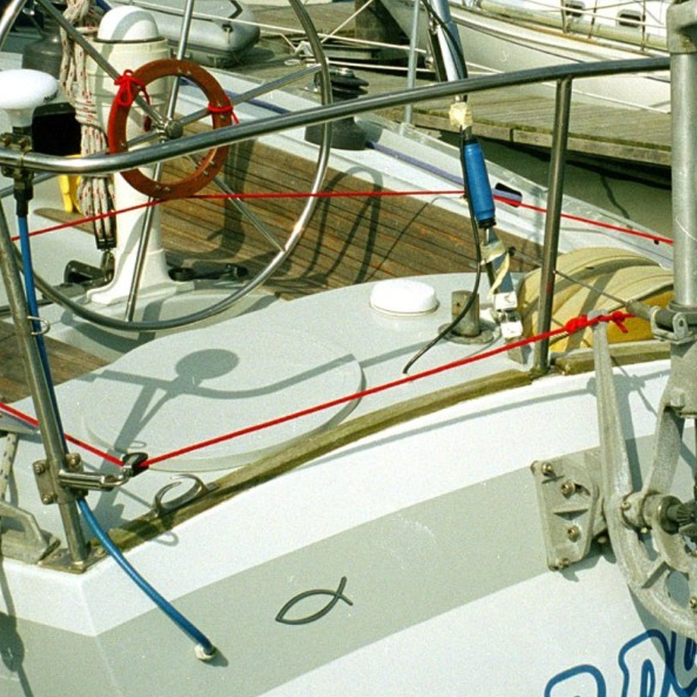 Pushpit outiggers for Neptune yacht windvane self steering